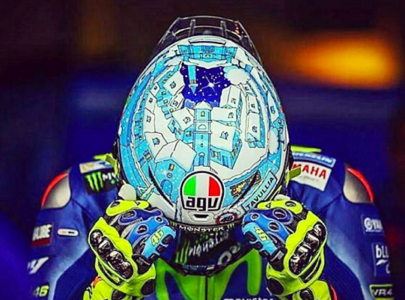 Valentino Rossi – Winter Test 2017 Helmet